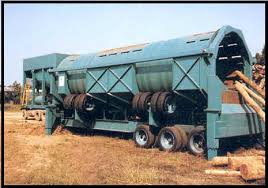 picture of debarking drum