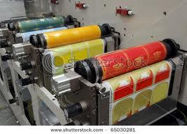 picture of multi-color flexography printer