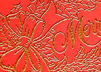 picture of heat embossed paper
